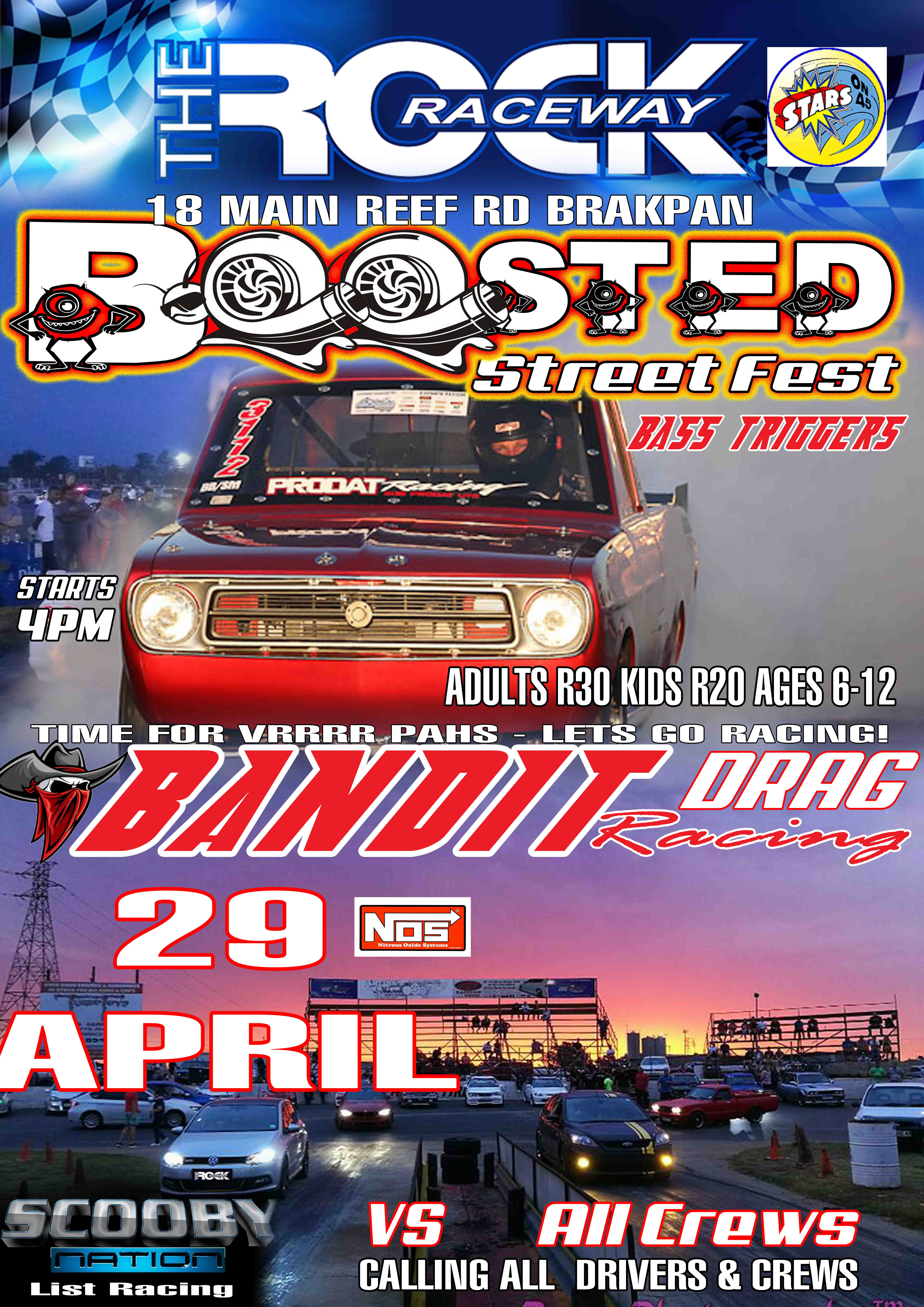 Heads Up Drag Racing Time It's time for boosted pedal fest bandit drag  racing @ The Rock Raceway again on the 29th April 2018. If you got what it  takes to ...
